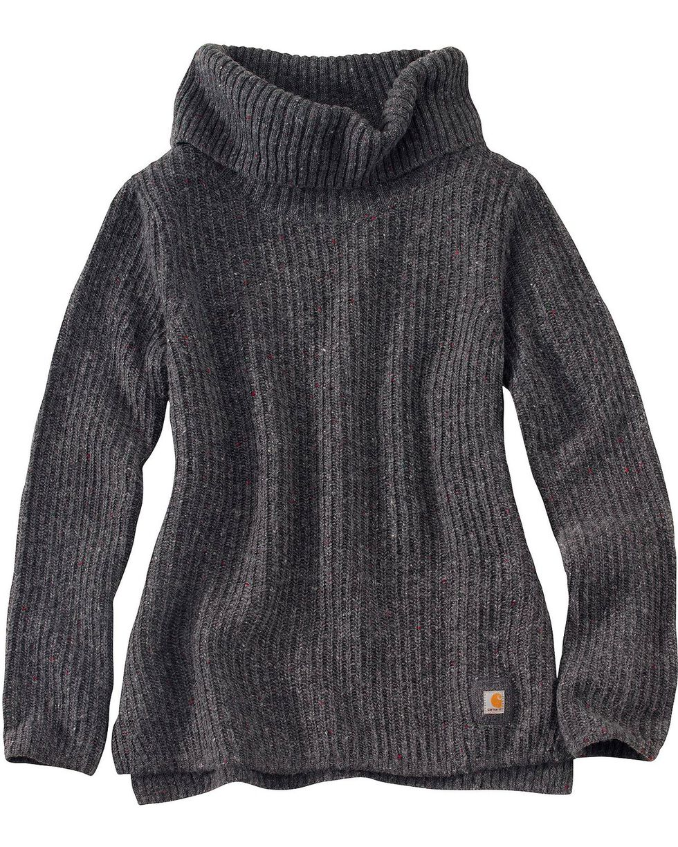 Carhartt Dutton Cowlneck Sweater, Dark Grey, hi-res