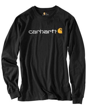 Carhartt Men's Long Sleeve Logo T-Shirt, Black, hi-res