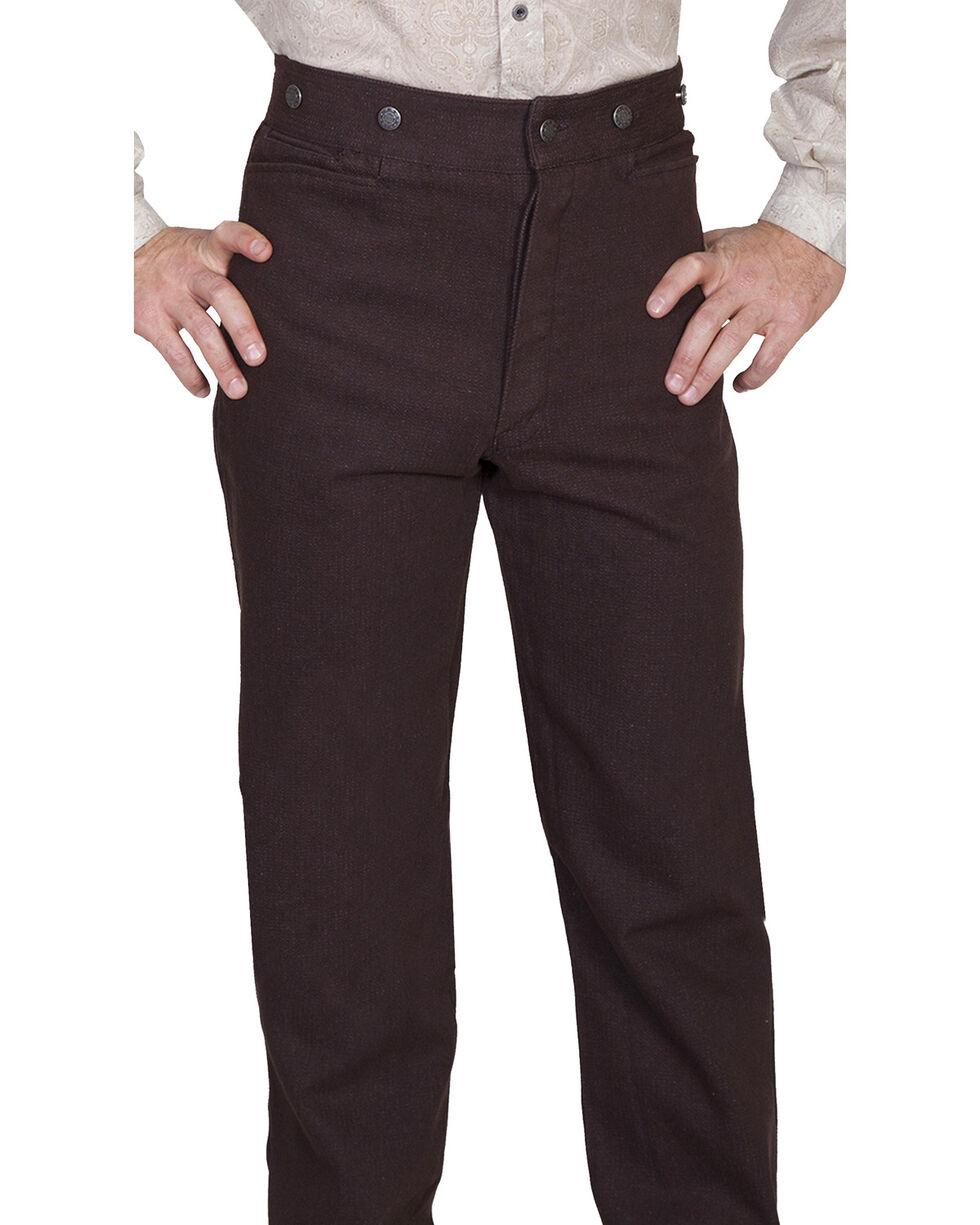 Wahmaker by Scully Raised Dobby Stripe Pants, Walnut, hi-res