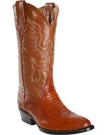 Ferrini Men's Teju Lizard Cowboy Boots - Round Toe, , hi-res