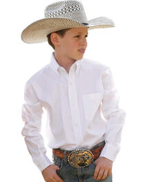 Cinch Boy's Solid Long Sleeve Shirt, , hi-res