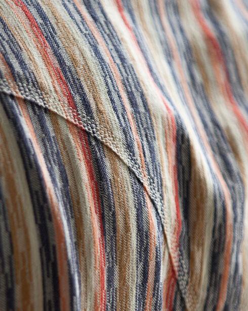 Ryan Michael Men's Multi Stripe Jacquard Shirt, Navy, hi-res