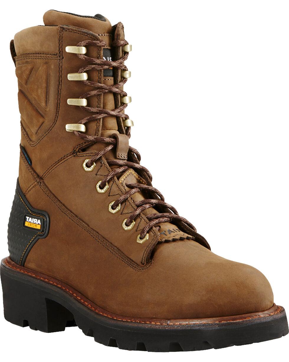 Ariat Men's Powerline H2O 400g Work Boots, Brown, hi-res