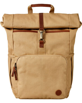 Timberland Walnut Hill 24 Liter Water Resistant Roll-Top Backpack, Beige/khaki, hi-res