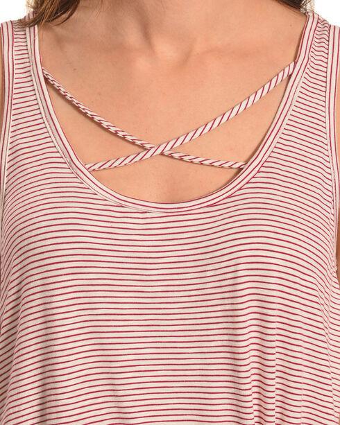 Eyeshadow Women's Criss-Cross Stripe Tank, Pink, hi-res