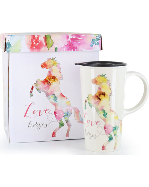 BB Ranch® Love Horses Coffee Mug, No Color, hi-res