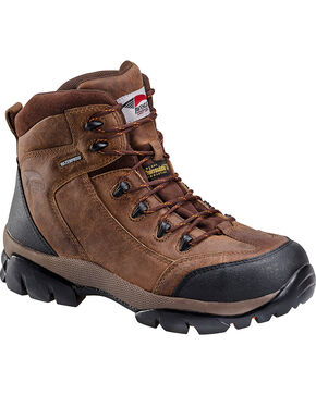 Avenger Men's Insulated Composite Toe Lace Up Work Boots, Brown, hi-res