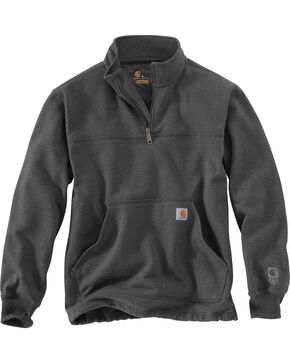 Carhartt Men's Rain Defender Paxton Quarter Zip Sweatshirt, , hi-res