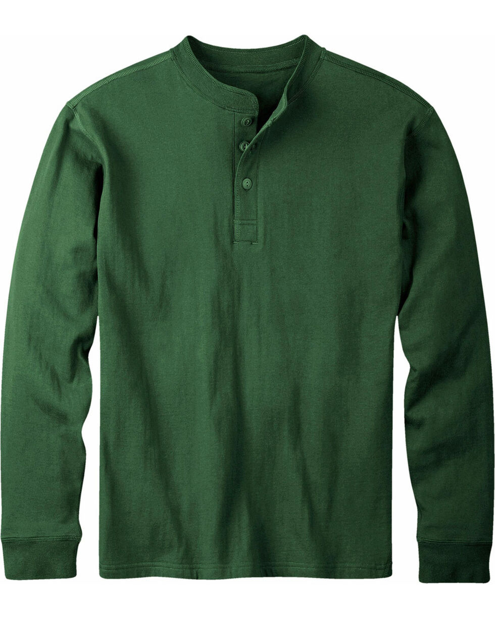 Mountain Khakis Men's Hunter Green Trapper Henley Shirt, Hunter Green, hi-res