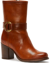 Frye Women's Whiskey Addie Harness Mid-Booties - Round Toe , , hi-res