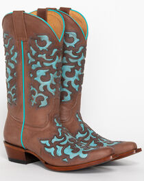 Shyanne® Women's Ornate Overlay Western Boots, , hi-res