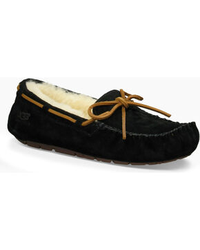 UGG Women's Black Dakota Moccasins , Black, hi-res