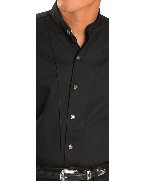 Cumberland Outfitters Men's Tunic Long Sleeeve Western Shirt, Black, hi-res