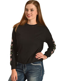 Derek Heart Women's Emmy's Embroidered Pullover, , hi-res