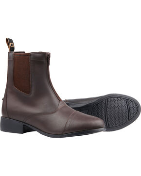 Dublin Elevation Zip Paddock Brown Equestrian Boots, Brown, hi-res