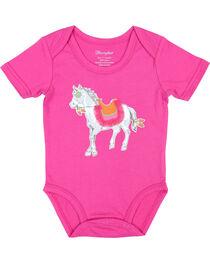 All Around Baby by Wrangler Infant Girls' Short Sleeve Bodysuit, , hi-res