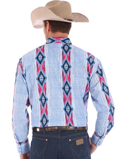 Wrangler Checotah Men's Multi Vertical Stripe Long Sleeve Shirt , Multi, hi-res