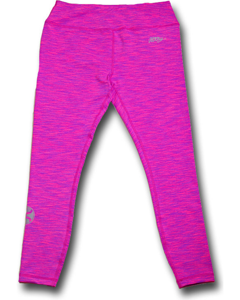 Hooey Women's Pink Space Dye Leggings , Pink, hi-res