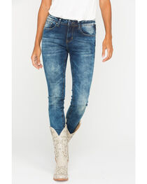 Grace in LA Women's Medium Wash Skinny Jeans, , hi-res