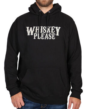 Cody James® Men's Whiskey Please Hoodie, Black, hi-res