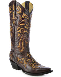 Corral Women's Multicolored Embroidered Western Boots, , hi-res