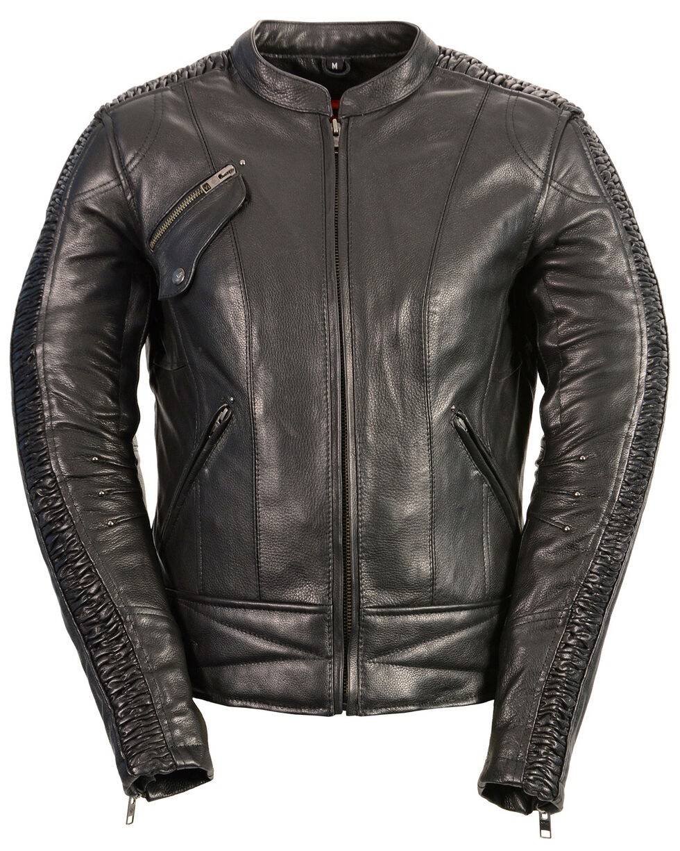 Milwaukee Leather Women's Concealed Carry Embroidered Phoenix Jacket - 4X, , hi-res