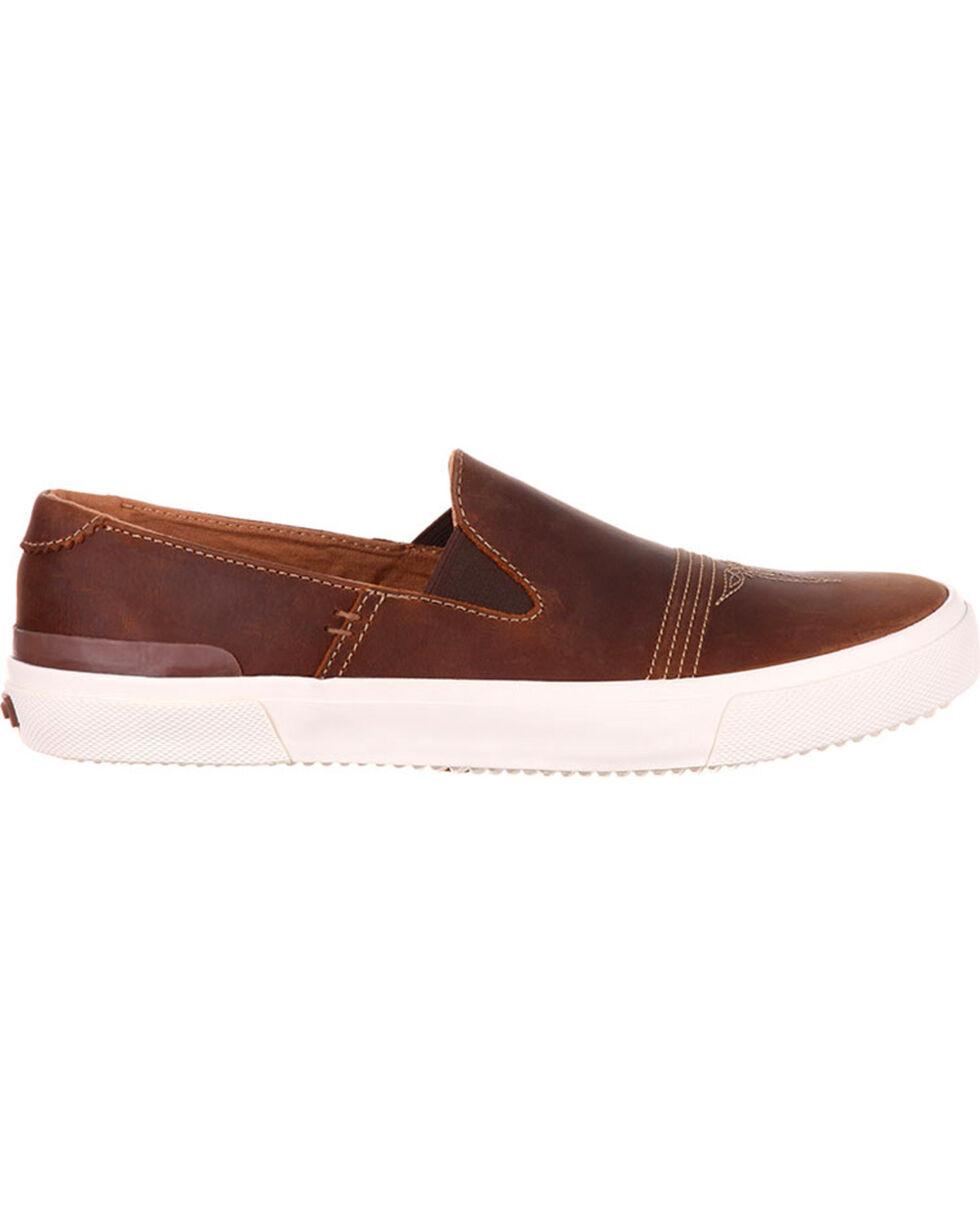 Durango Men's Music City Slip On Leather Sneakers, Brown, hi-res