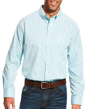 Ariat Men's Pro Series Maximillion Print Long Sleeve Button Down Shirt - Big & Tall, Light Blue, hi-res