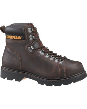 CAT Footwear Men's Alaska TechniFlex Work Boots, Espresso, hi-res