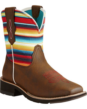 Ariat Women's Fatbaby Heritage Rosie Western Boots, Brown, hi-res