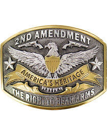 Cody James® Dual-Tone 2nd Amendment  Belt Buckle, , hi-res