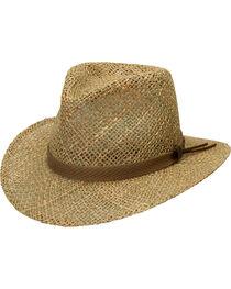 Black Creek Men's Seagrass Straw Hat, , hi-res