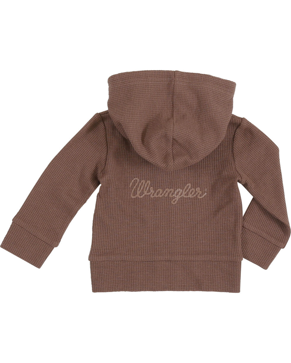 Wrangler Infant Boys' Hoodie with Back Logo, Brown, hi-res
