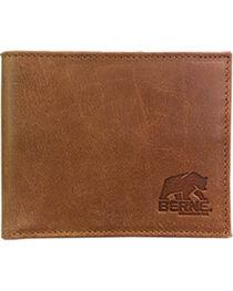Berne Men's Tan Genuine Leather Pass Case Wallet , , hi-res