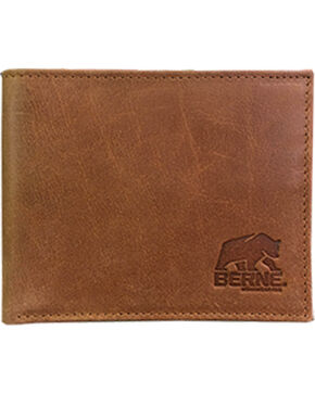 Berne Men's Tan Genuine Leather Pass Case Wallet , Tan, hi-res
