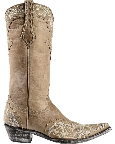 "Old Gringo Women's Erin 13"" Western Boots, Bone, hi-res"