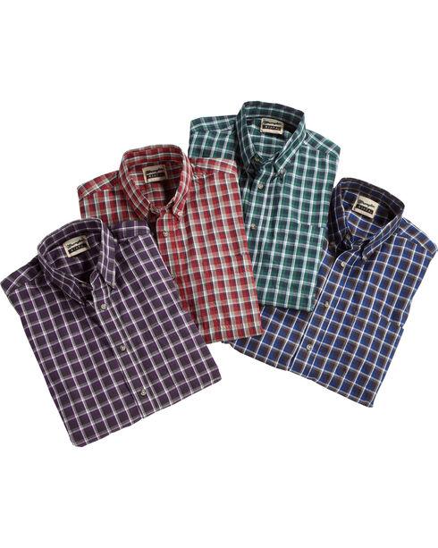 Wrangler Men's Riata Plaid Western Shirt , Multi, hi-res