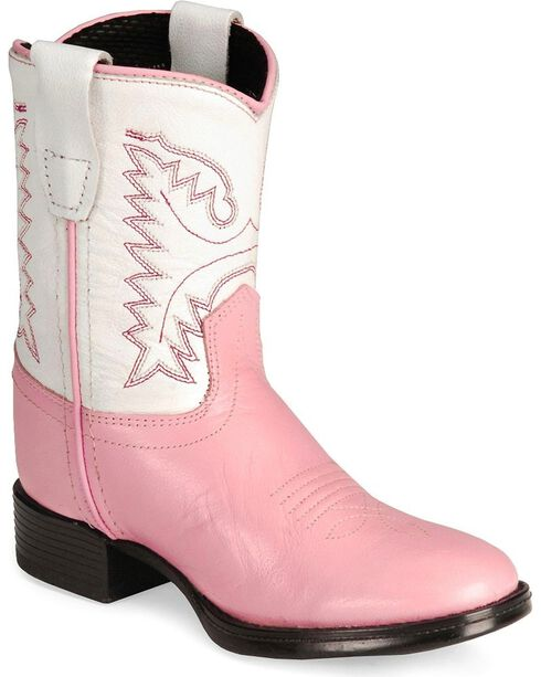 Old West Toddler Girls' Ultra Flex Pink Cowboy Boot, Pink, hi-res