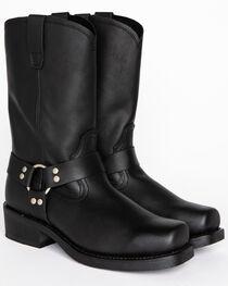 Cody James Men's Black Harness Boots - Square Toe, , hi-res