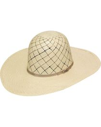 Twister 10X Shantung Open Crown Straw Cowboy Hat, , hi-res