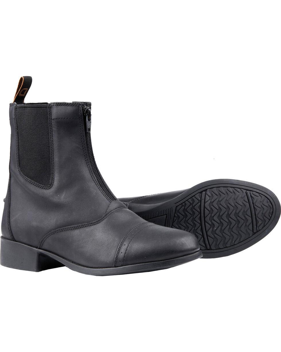 Dublin Kids' Elevation Zip Paddock Boots, Black, hi-res