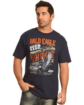 Cody James® Men's Bald Eagle Whiskey Short Sleeve Tee, Navy, hi-res