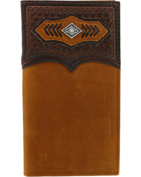 Cody James® Men's Basketweave Concho Rodeo Wallet, Brown, hi-res