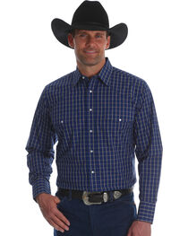 Wrangler Men's Wrinkle Resist Plaid Long Sleeve Shirt - Tall, , hi-res