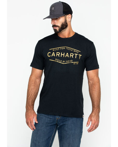 Carhartt Men's Maddeock Build By Hand Graphic Tee , Black, hi-res