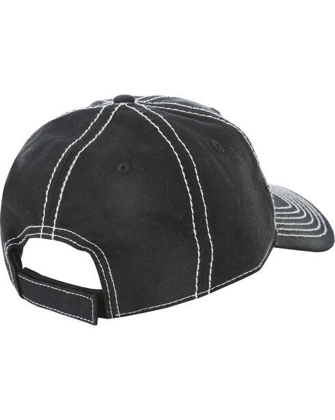 Wrangler Men's Vintage Ball Cap, Black, hi-res