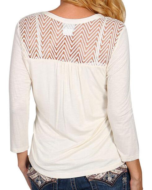 Ariat Women's - Sleeve Cheryl Top, Cream, hi-res