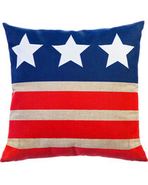 Evergreen Stars and Stripes Outdoor Pillow , , hi-res