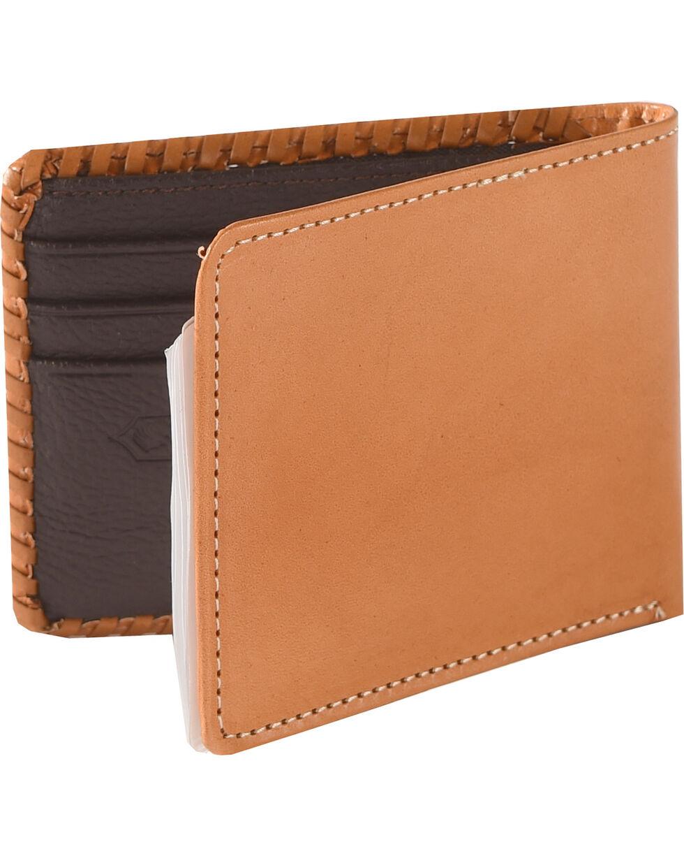 Cody James Men's Tooled Bi-Fold Wallet, Tan, hi-res