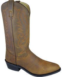 Smoky Mountain Men's Distressed Denver Cowboy Boots - Round Toe, , hi-res